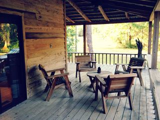 Apalachicola cabin photo - outside seating.