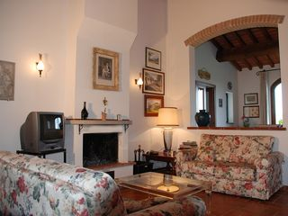 Cortona villa photo - La Colonica Living Room