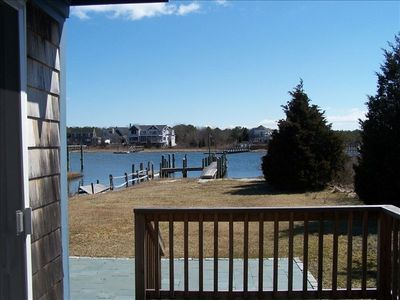 View from the house to the dock