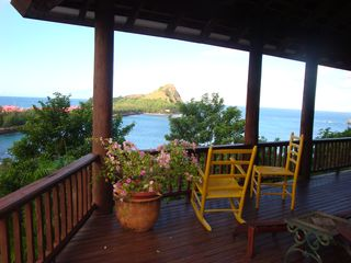 Main deck at Zandoli - Cap Estate villa vacation rental photo