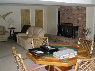 Hampton Bays house photo - den with 60 inch flat screen TV /second living room