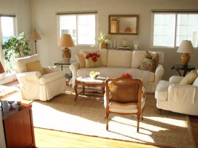 Living room with afternoon sun.