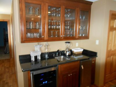 Wet bar and beverage center