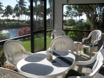 Enjoy morning coffee and an evening glass of wine on our Lanai