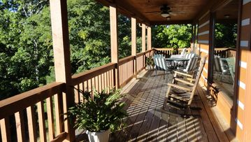 Wears Valley cabin rental - Private Back Porch with beautiful views