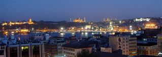 Istanbul apartment photo - view of Old City from roof terrace at night