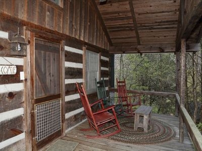 Front porch of Graves Cabin