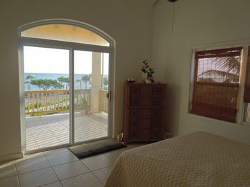 The ocean view from bed in the Master Bedroom.