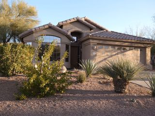 Fountain Hills house photo - Our Sunrise Home welcomes you! POOL +SPA under Palmtrees with mountainview