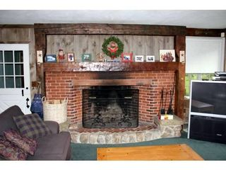 North Conway house photo - .Wood stove and HDTV in second living room