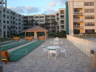 New Smyrna Beach condo photo - Beautiful courtyard outside balcony