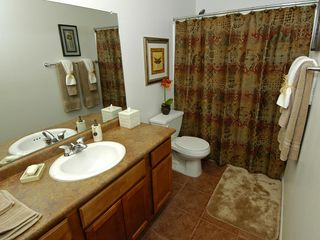 Ahwatukee condo photo - Hand-held & fixed shower head, hair dryer & full length mirror behind the door