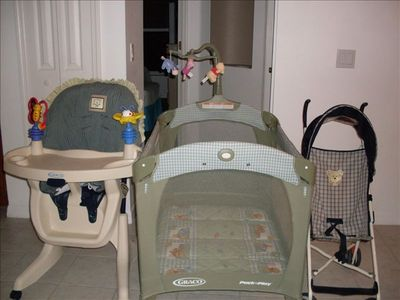 Graco Playpen, High Chair and Stroller