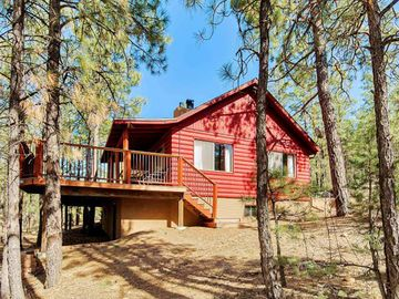 Show Low cabin rental - Wonderful Secluded deck in the trees!