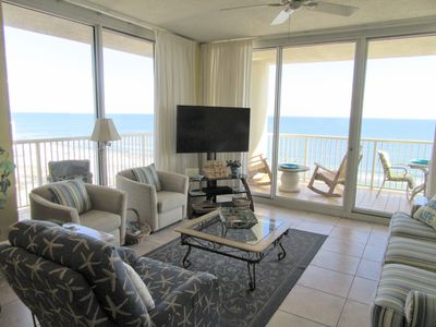 Doral 1101 is a Corner Unit with a wrap-around balcony with panoramic views!