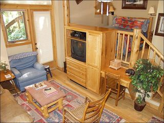 Snowmass Village house photo - 6th Bedroom lock off unit with Queen, kitchen, bath, sitting area and TV