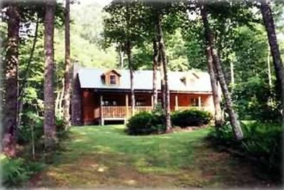 Brevard cabin rental - Front view of Log Cabin