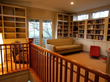Third floor library and family room