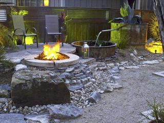 San Antonio bungalow photo - Koi Fountain, Sitting Area, and Firepit