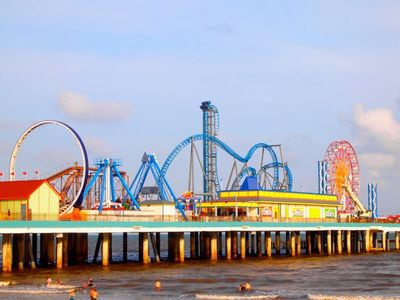Newly opened Pleasure Pier - Not for the faint of heart!