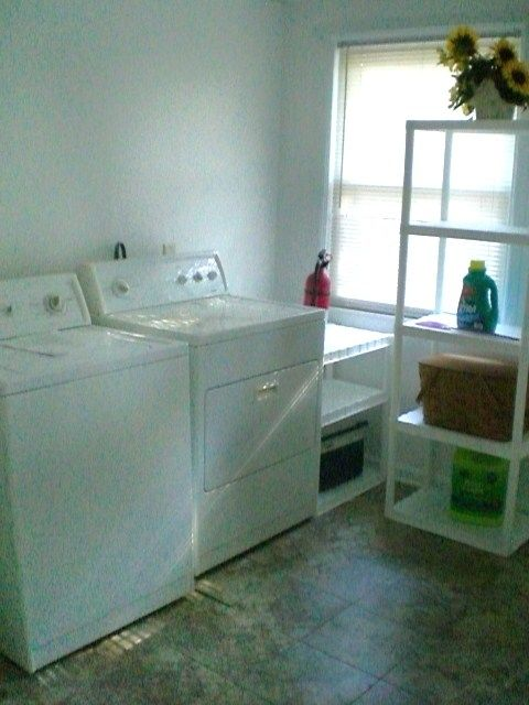 Washing machine and dryer in separate laundry
