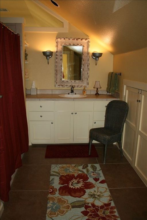 large full bath with tub/shower- upstairs