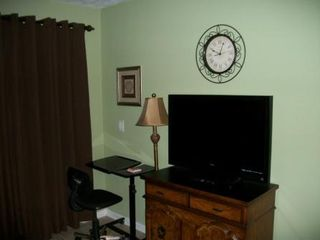 Blue Water Resort condo photo - Flat Screen TV Cable with Computer area and WiFi