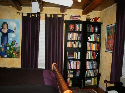 Second Bedroom full of books and art