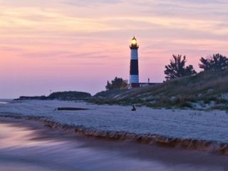 Big Sable Point Lighthouse is a few minutes north