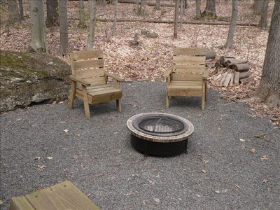Ground level fire pit