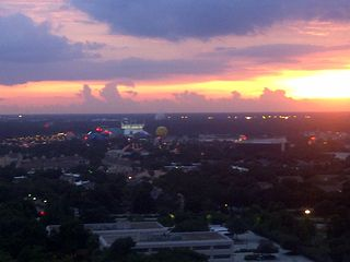 Lake Buena Vista condo photo - Evening view from balcony overlooking Disney area