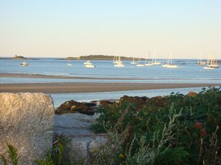 Biddeford cottage photo - Stroll along our beach at low tide for picture postcard views!