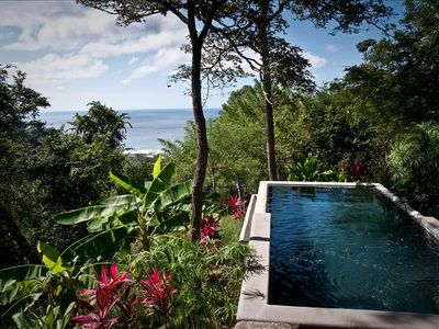 Lush gardens and views overlooking Playa Madera