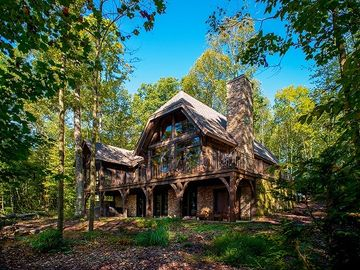 Fayetteville house rental - Back of home which overlooks New River Gorge 900 ft Rim