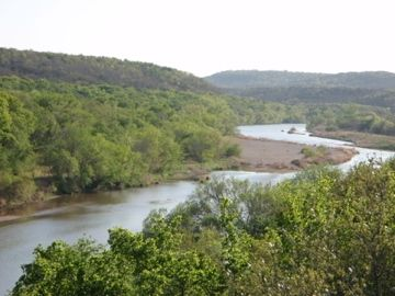 Your view of the Brazos River from the pavilion.