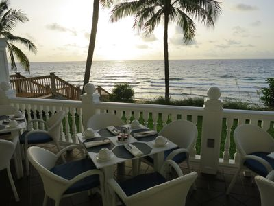 Imagine eating Breakfast while watching the sunrise off the Atlantic Ocean