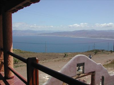 View from casita's veranda on the bay side of the mountain.