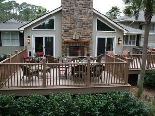 St. Simons Island house photo - Spacious Outdoor Deck