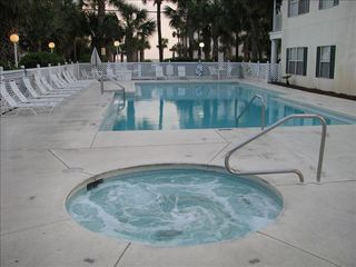 Caribbean Dunes condo photo - Sparkling heated pool and hot tub