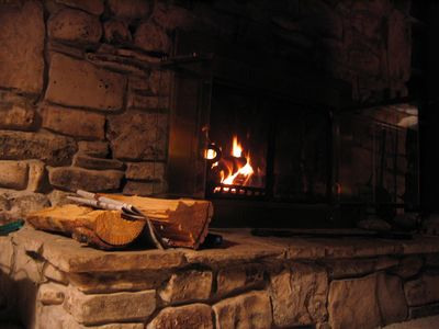 Fireplace perfect for winter