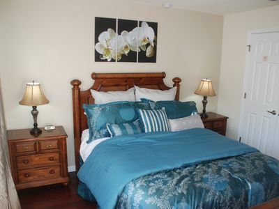 Encantada Resort house rental - New master bed linen and flooring