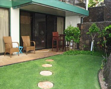 VIEW OF LANAI AND PRIVATE GARDEN