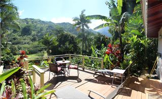 Wainiha house photo - Rear porch with stunning view
