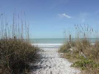 Beach path at the end of our sand covered lane - Captiva Island house vacation rental photo