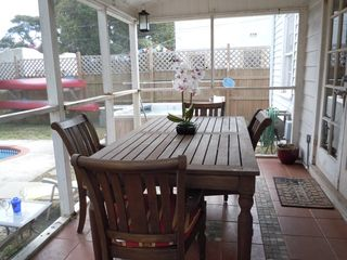 Lake Worth house photo - Back Porch has a full-sized dining table... dine with the ocean breeze
