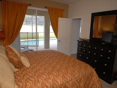 Master Bedroom with King Sized Bed and Soft Pillow Top Mattress