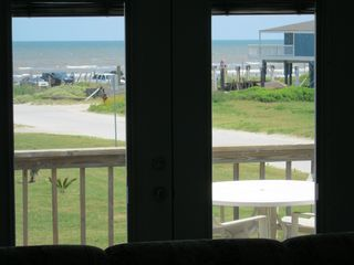 Galveston house photo - view out the living room doors