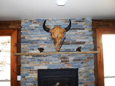 Bunk room fireplace