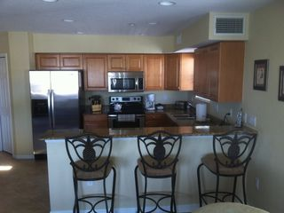 Indian Rocks Beach condo photo - Kitchen and Bar area