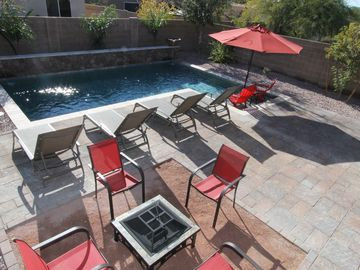 Gilbert house rental - Enjoy laying out by the pool with a good book or hanging out by the fire pit.